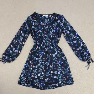 Black dress with flower